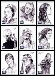 Star Wars Galaxy 6 sketch card by roberthendrickson