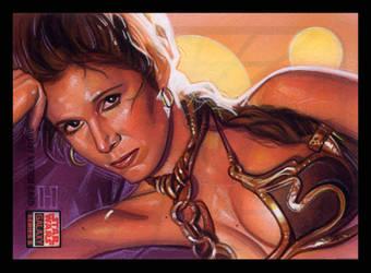 Slave Leia by roberthendrickson