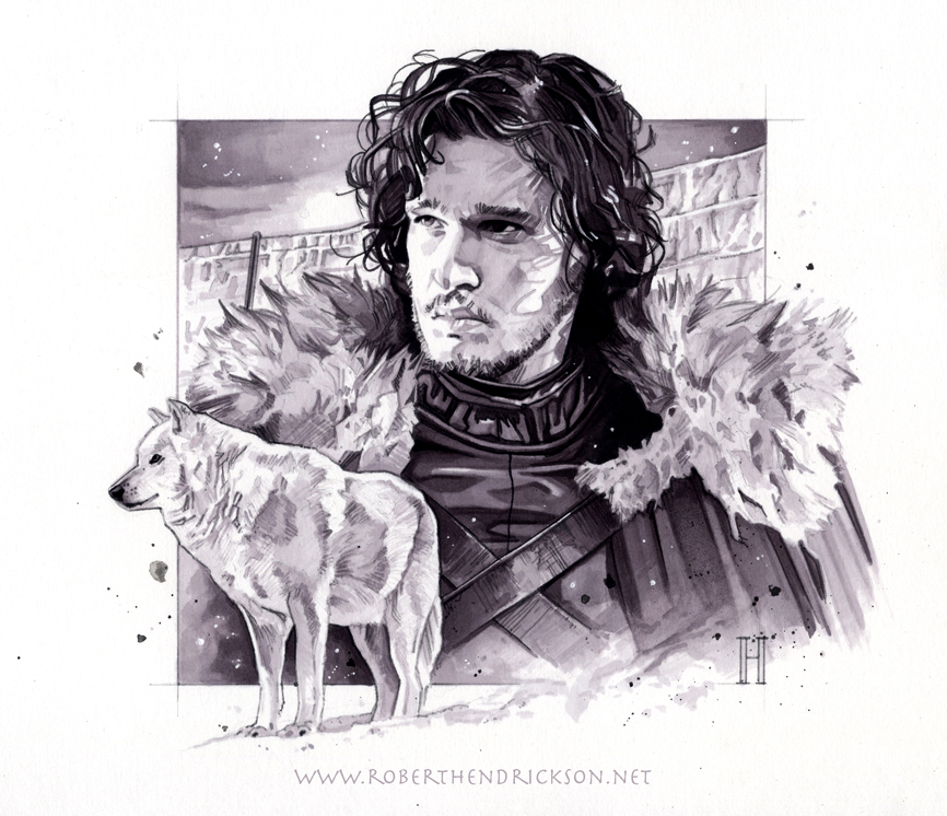 Game of Thrones - Jon Snow by roberthendrickson
