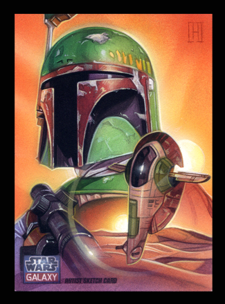 Boba Fett / Slave 1 on Tatooine by roberthendrickson