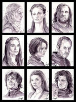 Game of Thrones Portrait series by roberthendrickson