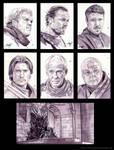 Game of Thrones portrait series