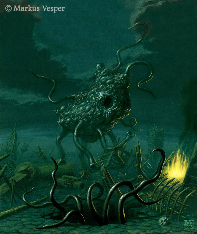 Lovecrafts flying polyps by Acrylicdreams