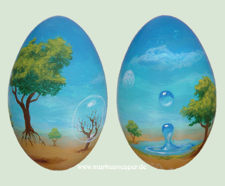 surreal easter egg by Acrylicdreams