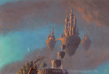 Castles in the sky by Acrylicdreams