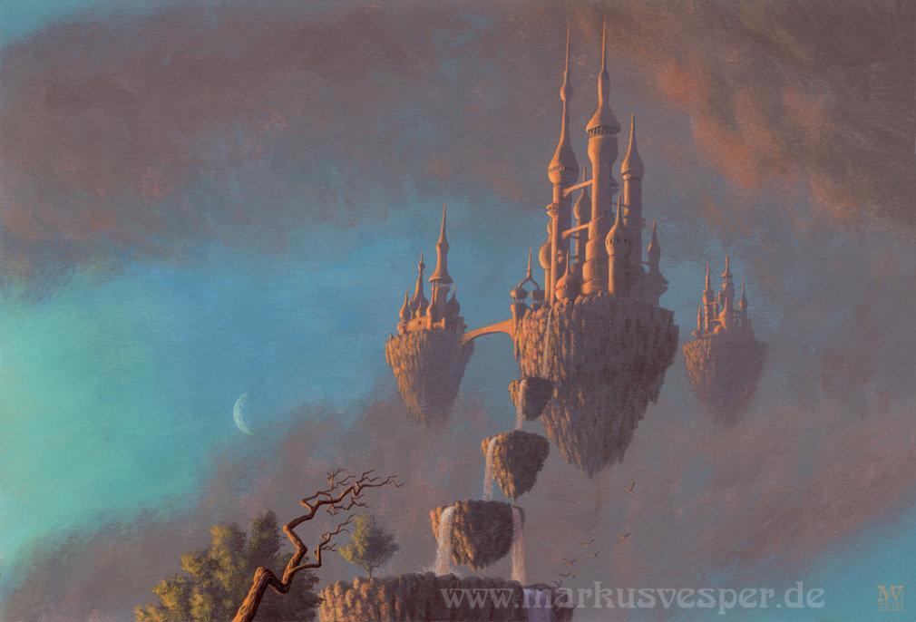 Castles in the sky by Acrylicdreams