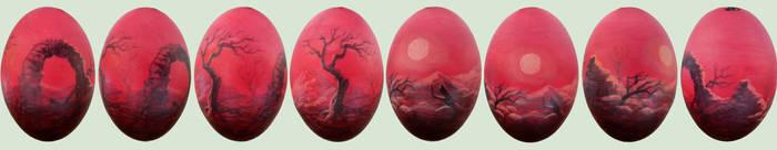 Landscape on goose egg