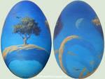 Roger Dean tribute on a goose egg