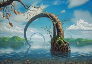 Lakeside by Acrylicdreams