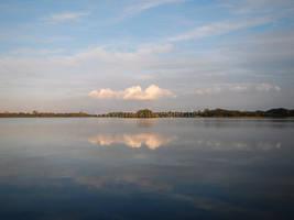 Cloud reflections by Acrylicdreams