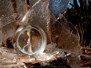 Rainbow in a crystal ball
