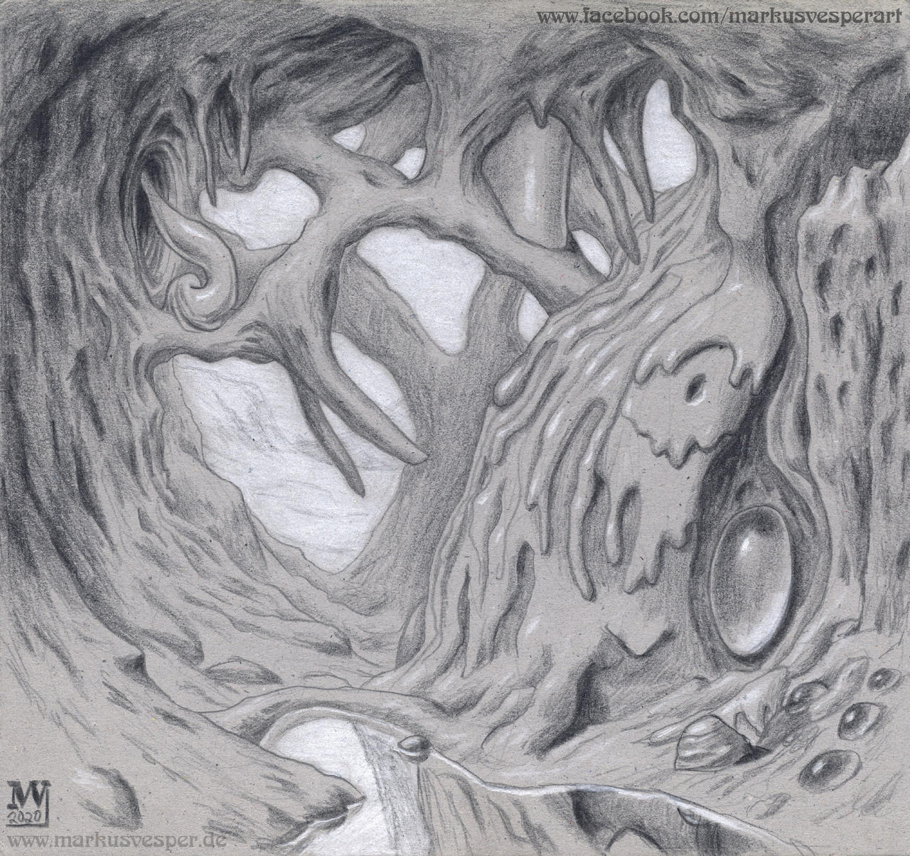 Surreal scenery drawing