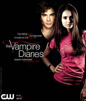 The Vampire Diaries Season 4 Promo Poster Delena