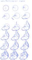 Wolfie head tutorial profile view