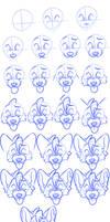 Wolfie head portrait view tutorial