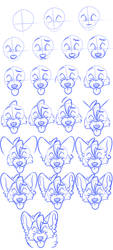 Wolfie head portrait view tutorial by BadmashBlitz