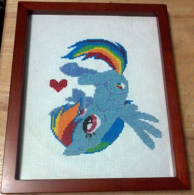 MLP: Rainbow Dash Wall Art: Sold by cosplay-kitty