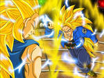 ssj3 Bejita VS ssj3 F.Trunks