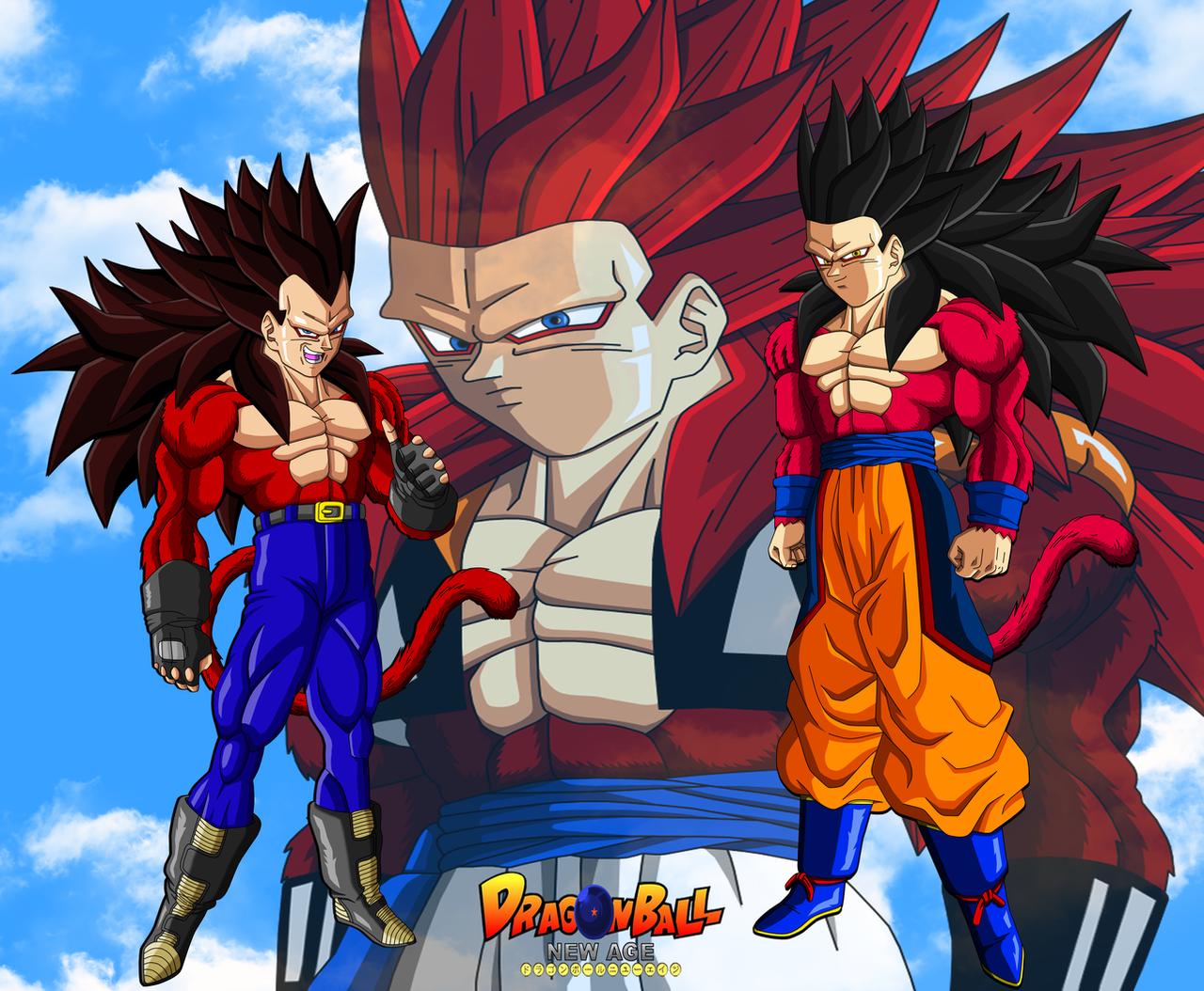 Bejita, Goku and Gojita True ssj4 by bejita135 on DeviantArt