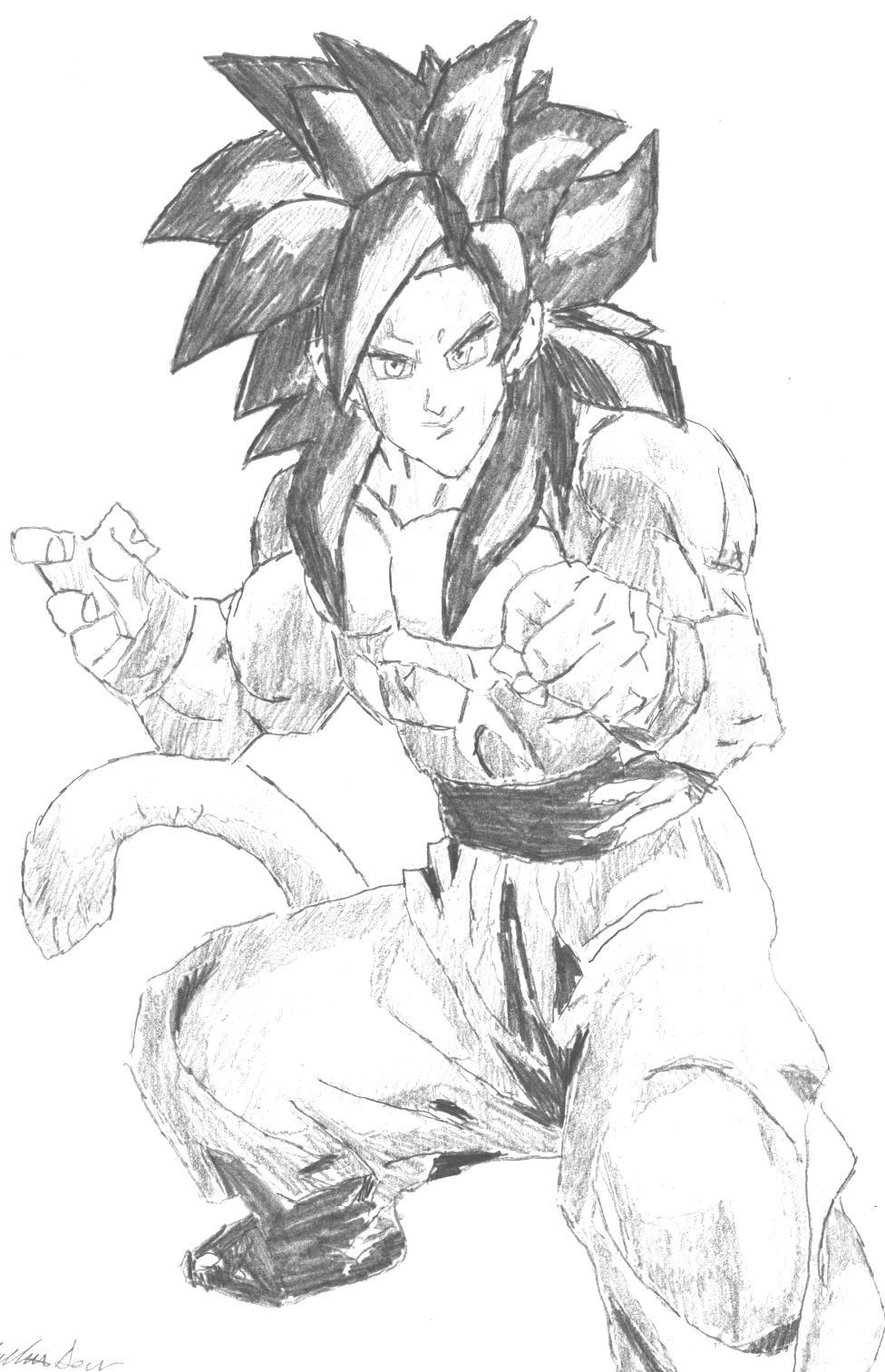 Goku Super Saiyan God Drawings Goku Super Saiyan 4 Drawings