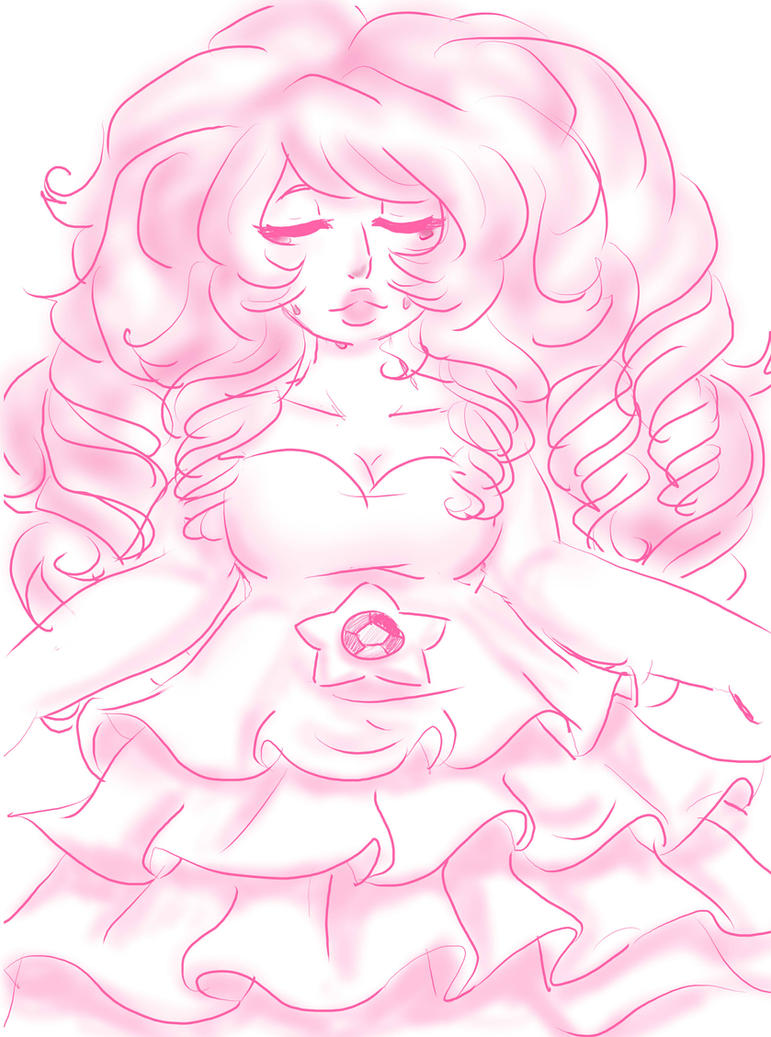 Rose Quartz Sketch by AnaChan97
