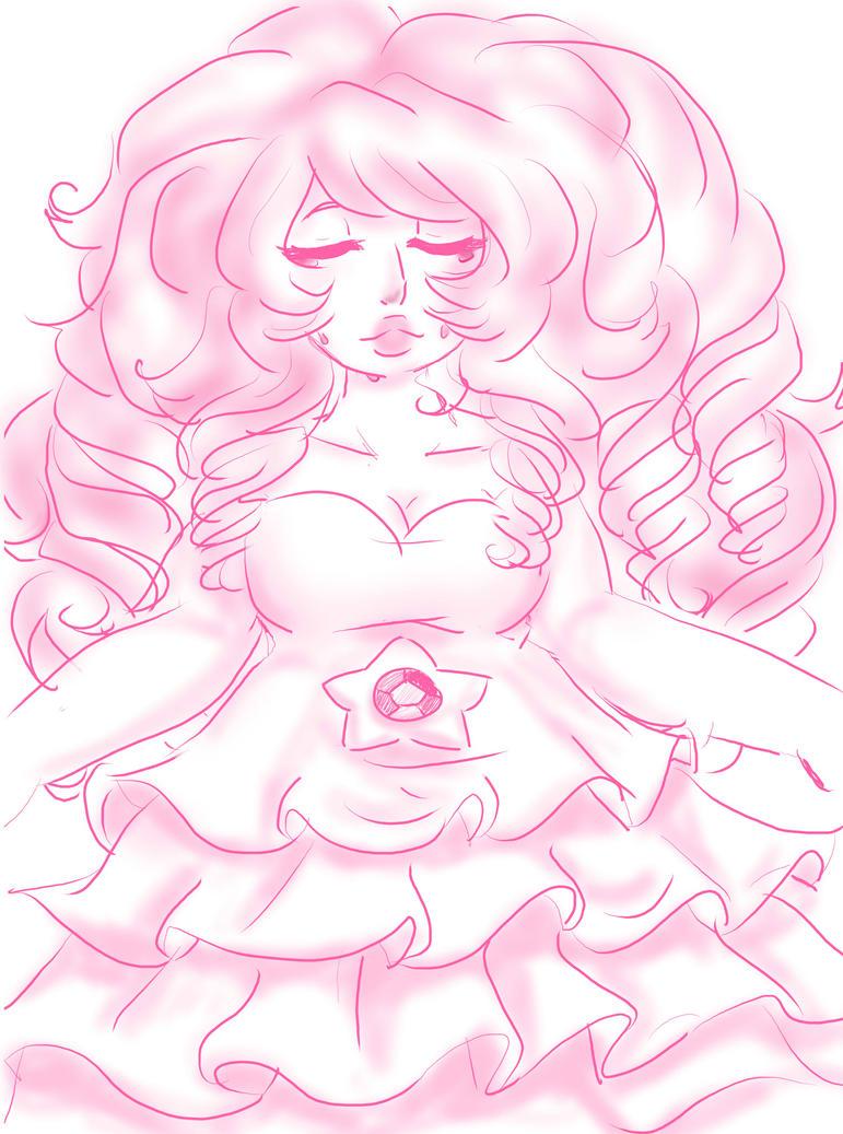 Rose Quartz Sketch by AnaChan97