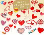 Valentine Heart element love wedding clip art 2