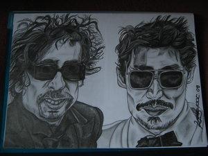 Depp and Burton_Folie a Deux by LoveJohnnyDeppClub