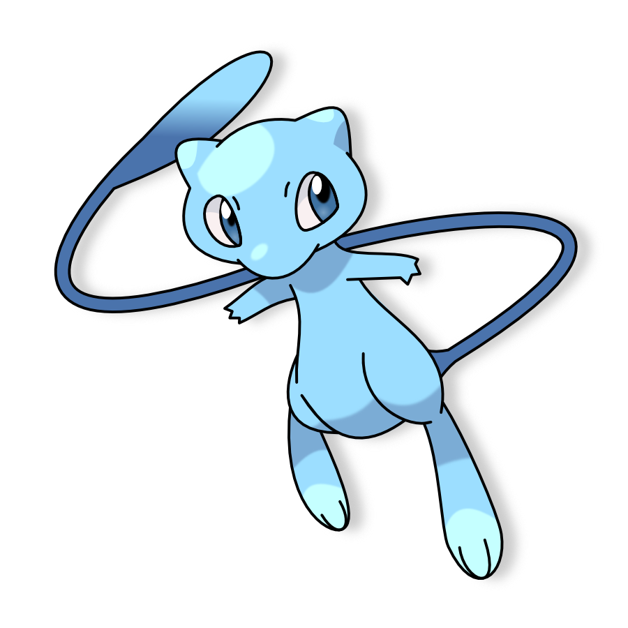 Mew Shiny by elfaceitoso on DeviantArt