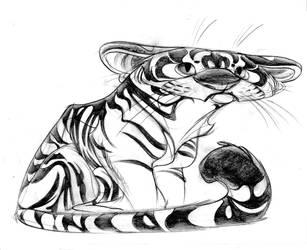 Flat Headed Tiger by Pocketowl
