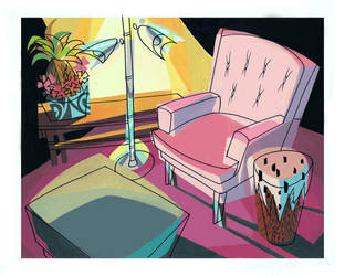 Cats Jetson Cartoon Background by Pocketowl