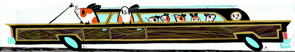Guinea Pigs in a Station Wagon by Pocketowl