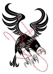 Bird and String Tattoo