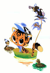 Baby Sailor Tiger by Pocketowl