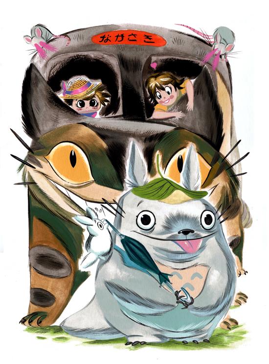Totoro by Pocketowl