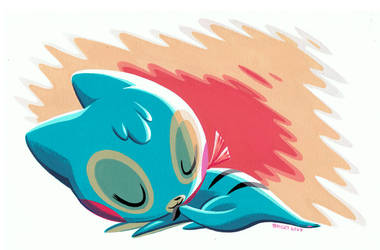 Pinwheel Sleeping by Pocketowl