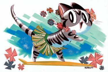 Tiki Tabby by Pocketowl