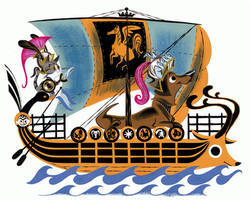 Colin the Daschund Sailor by Pocketowl
