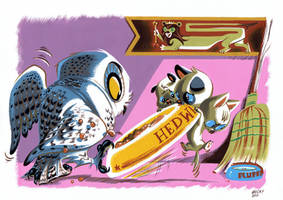 Hedwig and Baby Cerebus by Pocketowl