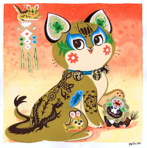 Chinese Tabby by Pocketowl