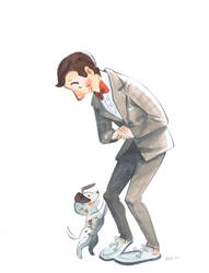 Pee Wee and Speck by Pocketowl