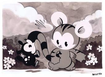 1930s Tigerbuttah and Hopscotch by Pocketowl