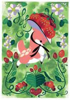Pink Deer by Pocketowl