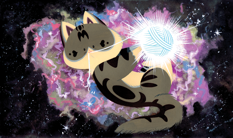 Space Cat by Pocketowl