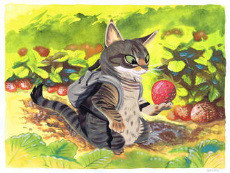 Strawberry Cat by Pocketowl