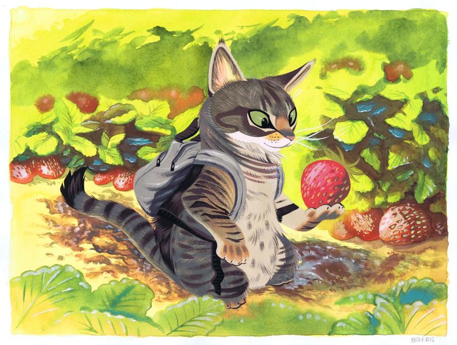 Strawberry Cat