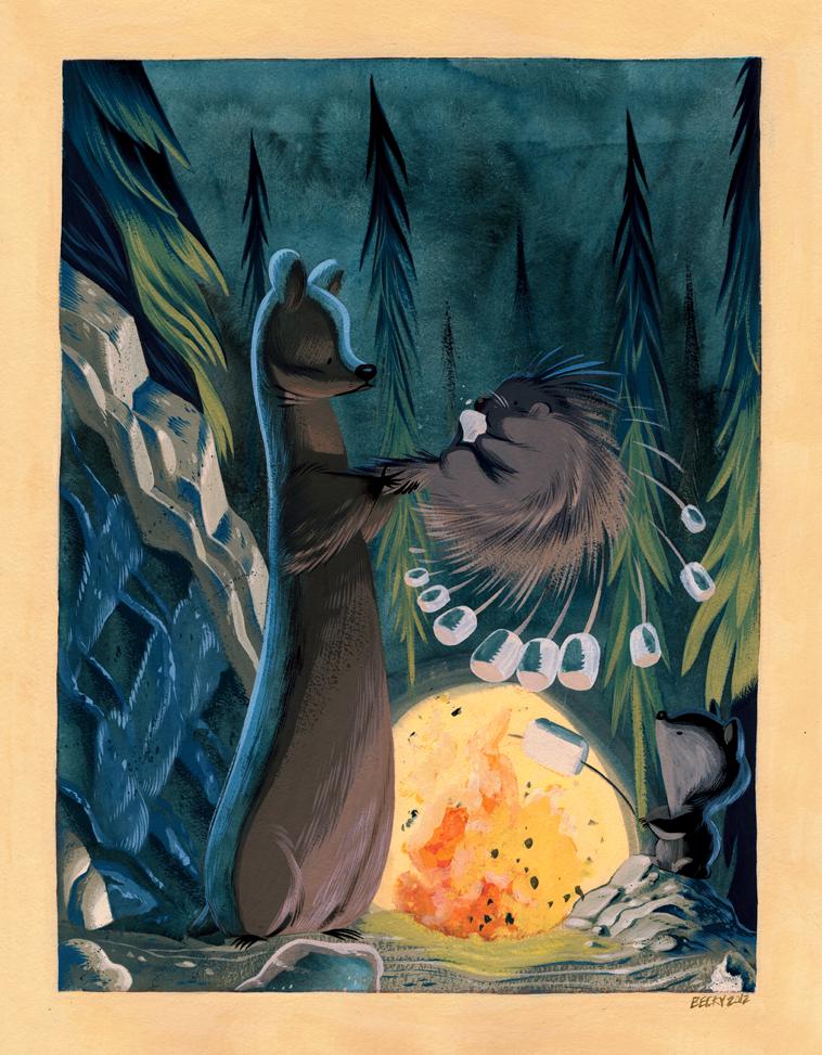 Campfire Friends by Pocketowl