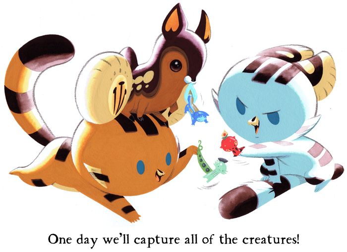 Tigerbuttah Capture Creatures by Pocketowl