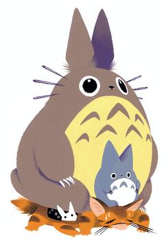 Totoro and Cat Bus
