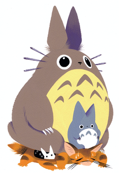 Totoro and Cat Bus